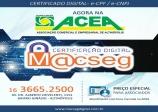 Certificado Digital agora na ACEA