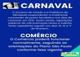 CARNAVAL 2021 - PONTO FACULTATIVO SUSPENSO