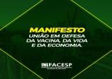 Manifesto Facesp: união em defesa da vacina, da vida e da economia